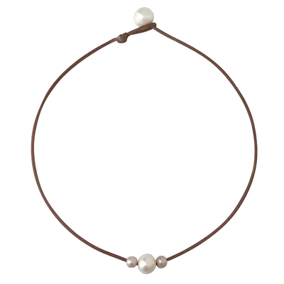 Wendy Mignot Curaco Three Pearl Freshwater Necklace